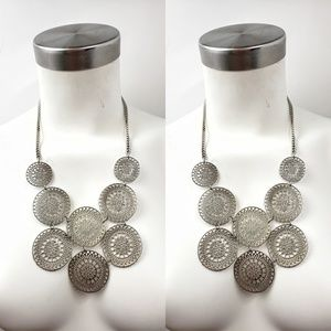 Jewelry - BOHO HEART DISK STATEMENT NECKLACE